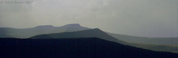 A view of the Brecon Beacons Range