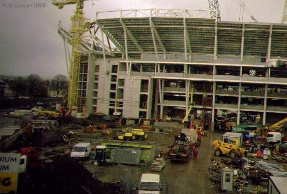 Millennium stadium during construction